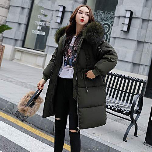 Armée Hiver Medium Verte Outwear Femmes Bas À Décontractée Gris Parka Capuche Long coloré D'hiver Coton Manteau Taille Matelassée Veste aHWqgT