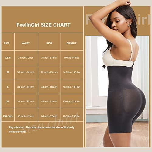 FeelinGirl Body Shaper for Women,High Waisted Tummy Firm Control Panties Slimming Waist Shapewear