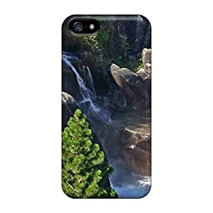 Iphone 5/5s Cover Case - Eco-friendly Packaging(rainbow Over Rocky Waterfalls)