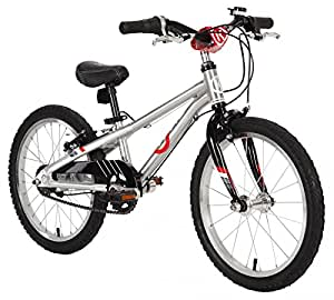"BYK E-350x3i 3 Speed 18"" MTR Kids Bike Silver Alloy/Black"