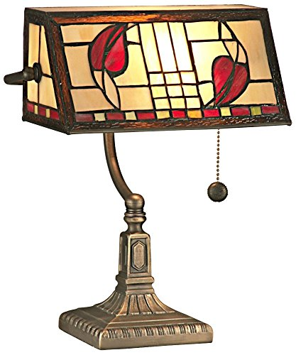 Dale Tiffany TA11010 Henderson Bankers Accent Lamp, Antique Brass ()