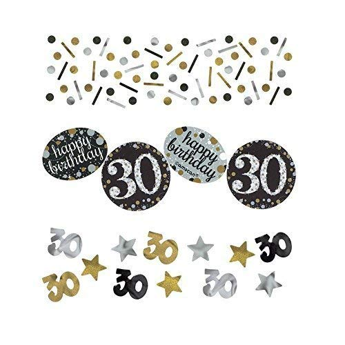 Amscan 360187 Sparkling Celebration 30 Confetti, Multi Color