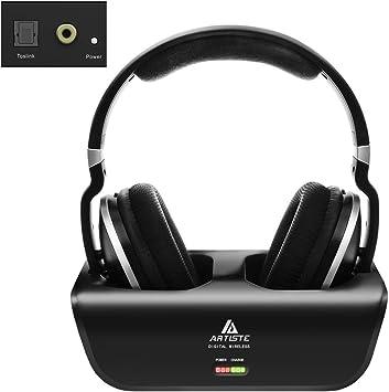 ARTISTE ADH300 – Auriculares inalámbricos, 2,4 GHz, con estación ...