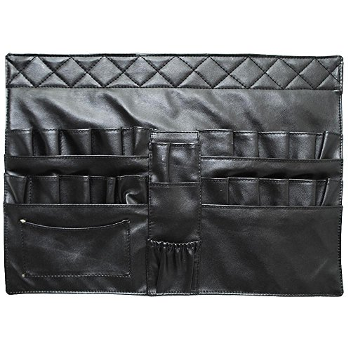 Makeup Artist Cosmetic Brush Apron with Belt Strap Black
