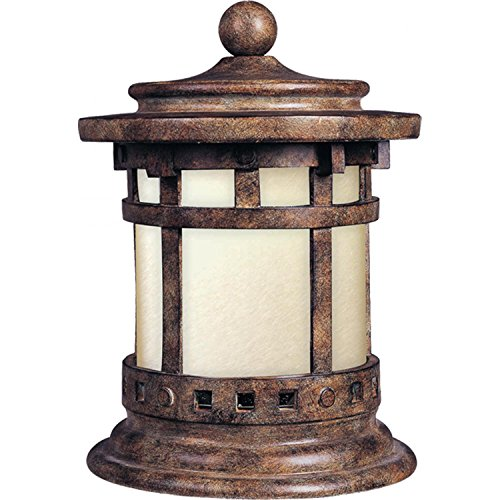 - Maxim 85032MOSE Santa Barbara EE 1-Light Outdoor Deck Lantern, Sienna Finish, Mocha Glass, GU24 Fluorescent Fluorescent Bulb , 60W Max., Dry Safety Rating, Standard Dimmable, Glass Shade Material, 1344 Rated Lumens