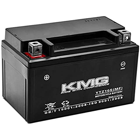 KMG YTZ10S Sealed Maintenace Free Battery High Performance 12V SMF OEM Replacement Maintenance Free Powersport Motorcycle ATV Scooter