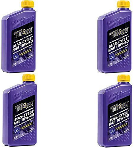 Royal Purple 01315 Max-Cycle Synthetic Motorcycle Oil 10W-40 for Highly Stressed Engines/Transmissions - 1 qt (Case of -