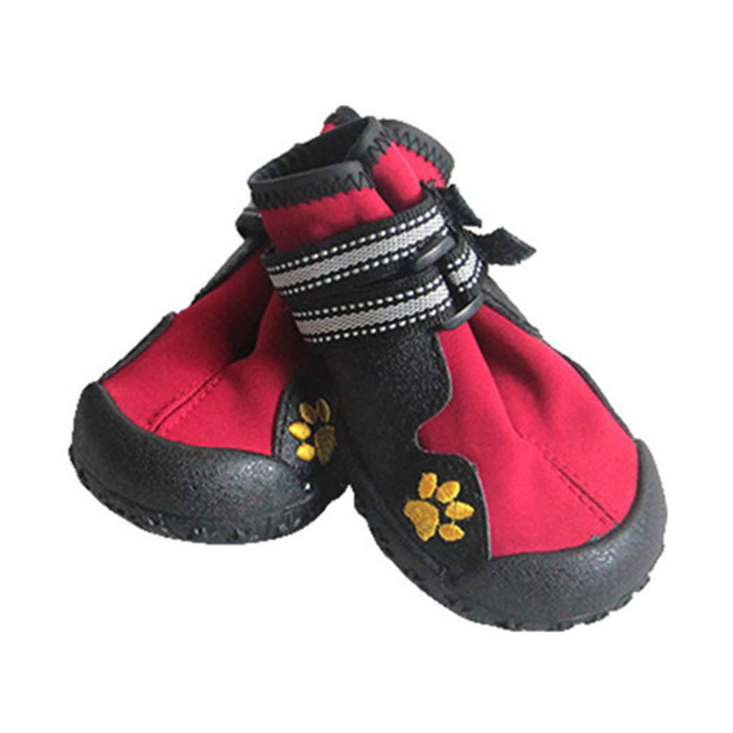 RED 4 RED 4 SENERY Pet Dog shoes Boots,Sport Pet Outdoor Rain Boots Non Slip Puppy Running Sneakers Waterpoof Boots Pet Accessories