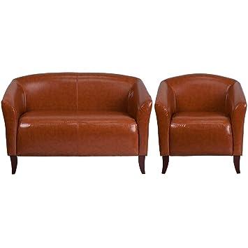 Excellent Amazon Com Flash Furniture Hercules Imperial Series Cognac Machost Co Dining Chair Design Ideas Machostcouk