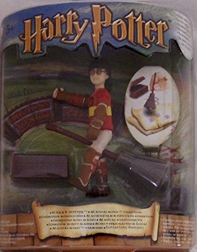 HARRY POTTER Magical Minis QUIDDITCH GAME w HARRY POTTER Figure & BROOM (2001) (Pocket Polly Potter Harry)