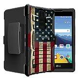 Untouchble Case for LG K8V| LG VS500 from Verizon Case | Stylus 2 Flag Case [Heavy Duty Clip]- Shockproof Swivel Holster Case with Built in Kickstand - Vintage America Flag