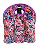 Koverz - #1 Neoprene Insulated 6-Pack Carrier, Beer Bottle Carrier, Six-Pack Tote - Paisley