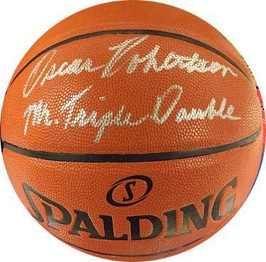 9b7c07d06 Oscar Robertson Autographed Ball - Spalding I O Mr Triple Double Cincinnati  Royals)- ITP Holo