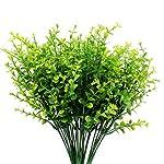 GPARK 5 Piece Artificial Shrubs Plants, Eucalyptus Leaves Vivid Bushes Simulation Greenery for Home/Indoor/Outdoor Décor/Wedding/Garden