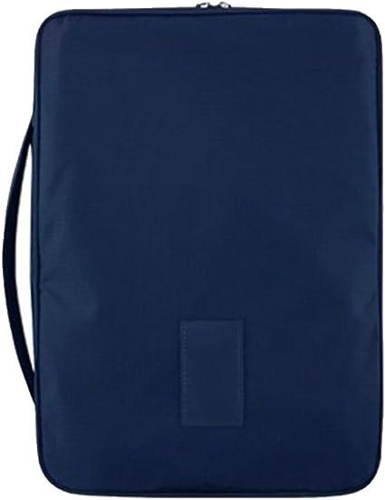 Gosear Portable Organizador para Maleta Bolsas de Viaje para Camisa y Lazo Azul Navy