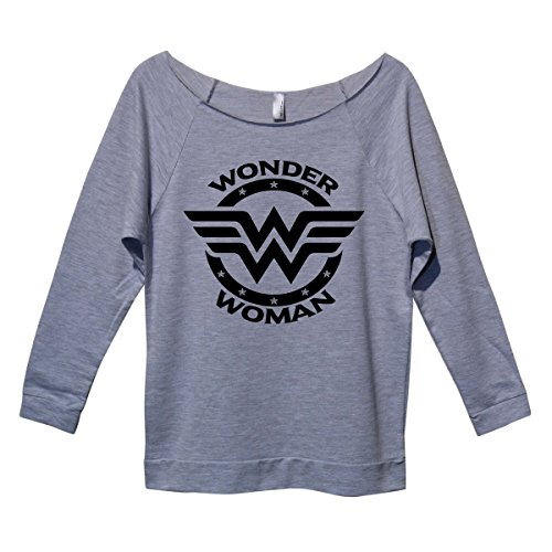 "Wonder+Woman+Shirts Products : Womens Super Hero Vintage Raglans ""Wonder Woman"" Movie Lover Royaltee Shirts"