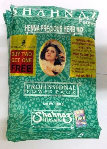 Shahnaz Husain Henna hierba preciada mezcla 200 g, compre 2 obtenga 1 gratis