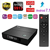 Sawpy TX92 Smart tv box Android 7.1 Amlogic S912 2GB+16GB BT 4.0 2.4/5 Dual-Band WiFi 4K UHD & LAN VP9 DLNA H.265