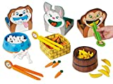 Lakeshore Feed-The-Animals Fine Motor Games - Set of 3