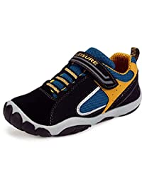 PPXID Boy's Girl's Mesh and Leather Trainers Running Sneakers Casual Sport Shoes