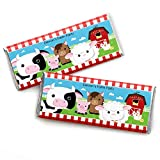 Custom Farm Animals - Personalized Baby Shower or Birthday Party Favors Candy Bar Wrappers - Set of 24