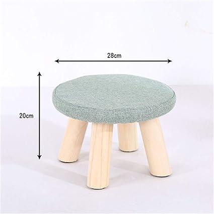 Amazon.com: Taburete para niños, taburete bajo de madera ...