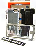 Ballistic Protective Case Plus Rugged Swivel Holster Clip (White/Gray)