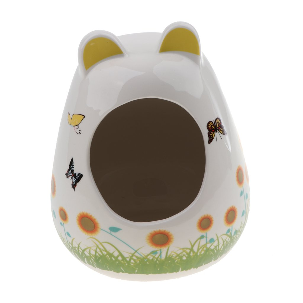 Baoblaze Baby Bottle Shape Hamster Small Animals Hideout Hamster House Critter Bath