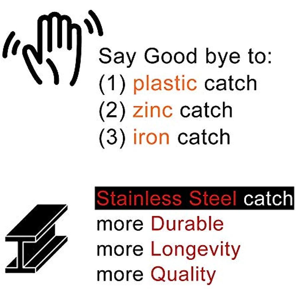 JQK Magnetic Cabinet Door Catch, Stainless Steel Closet ...