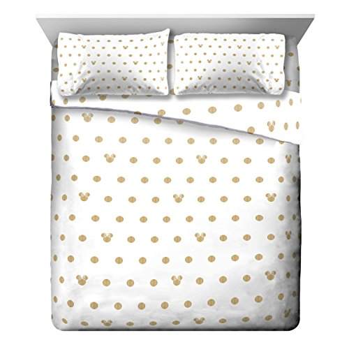 Disney Minnie Mouse Icon and Dots  4 Piece Queen Sheet Se...