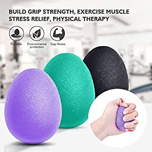 Peradix Hand Exercise Stress Relief Balls, Hand Grip Strengthener balls Finger Therapy Squeeze Training for adults and… 6