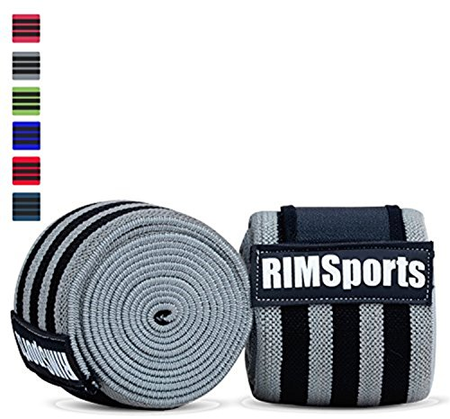 Knee Wraps For Powerlifting, Gym, Crossfit & Crossfit Equipment - Premium Powerlifting Knee Wraps - Best Knee Wraps For Squats - Ideal Knee Straps Weightlifting & Knee Straps For Squats