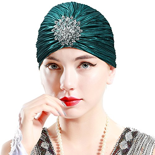 BABEYOND Women's Ruffle Turban Hat Knit Turban Headwraps