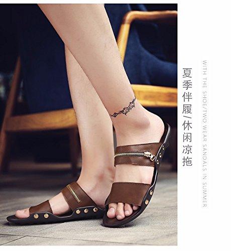 Il nuovo estate Uomini sandali Uomini scarpa tendenza Antiscivolo personalità infradito sandali Spiaggia scarpa ,Marrone ,US=8,UK=7.5,EU=41 1/3,CN=42