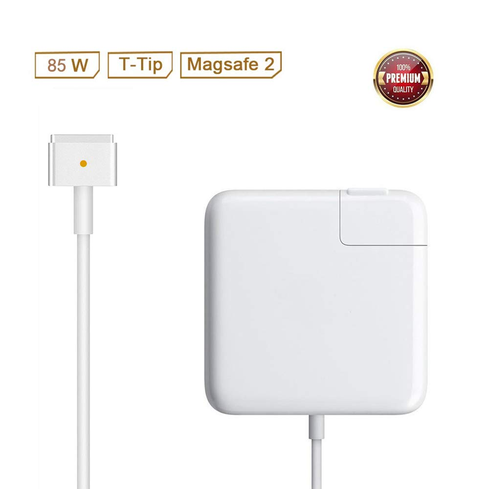 Mac Pro Charger Replacement for MacBook Pro with 13-inch 15-inch Retina Display After 2012 Ac 85W Magsafe 2 T-Tip Power Adapter Connector by SiliconV