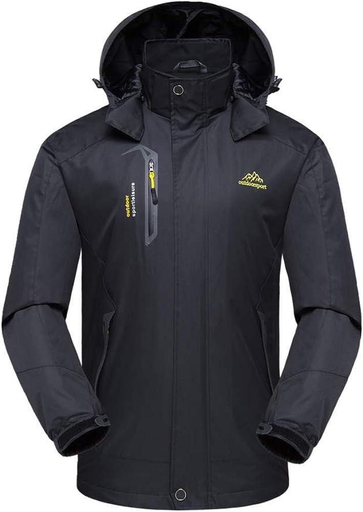 Veste Impermeable Homme,Coupe-Vent Imperm/éable Manteaux /à Capuche pour Multisports Outdoor,Camping,Randonn/ée,Escalade
