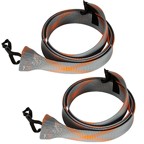 SF Standard Casting Fishing Rod Cover Rod Sock Rod Sleeve (New Gray/Orange/2PCS)