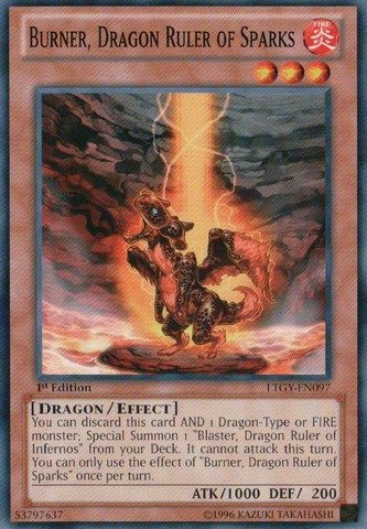 Dragon Ruler of Sparks (LTGY-EN097) - Lord of the Tachyon Galaxy - 1st Edition - Common ()