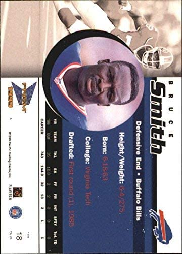 1999 Pacific Prisms #18 Bruce Smith NFL Football Trading Card