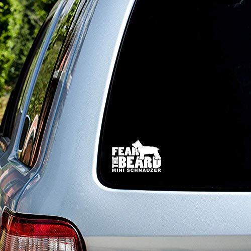 Fear the Beard Mini Schnauzer Car Window Vinyl Decal Sticker