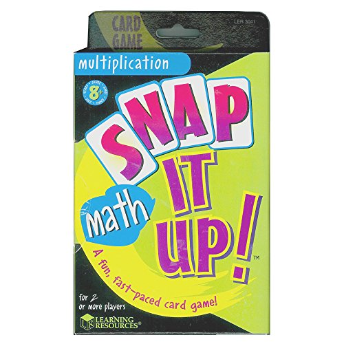 51ErRyeiPQL - Learning Resources Snap It Up! Multiplication Card Game