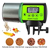 BlueFire Automatic Fish Feeder Timer Feeder for Fish Moisture-Proof Fish Food Dispenser Auto Fish Feeder Turtle Feeder with LCD Display for Aquarium or Fish Tank