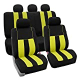 FH Group FB036YELLOW115 Seat Cover (Airbag Compatible and Split Bench Yellow)