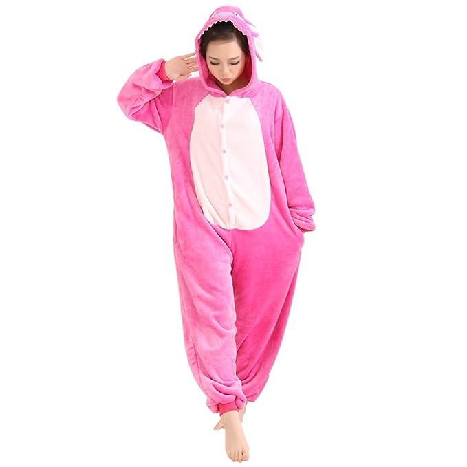 Afoxsos pijama dibujos animados linda mujer cosplay Rosa Stitch XL