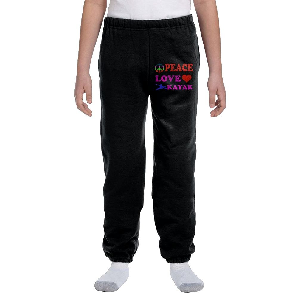 Peace Love Kayak Boys&girls Activewear Suitable Joggers Sweatpants by Ogente