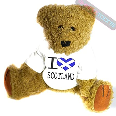 shaniztoons I Love Scotland Novelty Gift Teddy Bear 51ErS0wx nL