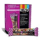 KIND Bars, Pomegranate Blueberry Pistashio + Antioxidants, Gluten Free, Low Sugar, 1.4oz, 12 Count