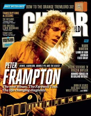Guitar Magazine Covers - Guitar World Magazine (July, 2019) Peter Frampton Cover