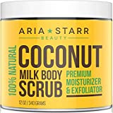 Aria Starr Coconut Milk Body Scrub - Best 100% Natural Skin Care Exfoliator & Moisturizer - 12 OZ review