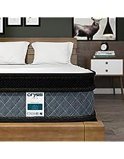 Crystli Memory Foam Springs Twin Mattress Foam Layer Mattress in a Box Innerspring Hybrid Mattress